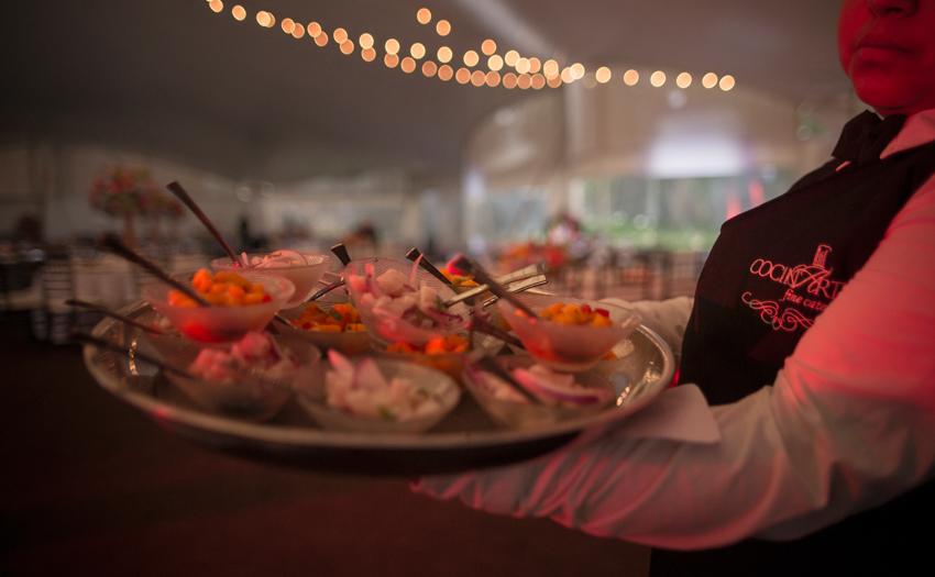 Servicio en mesa Cocinarte Fine Catering Guatemala